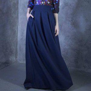"Guntina Black Pockets Maxi Skirt XXS 28"""